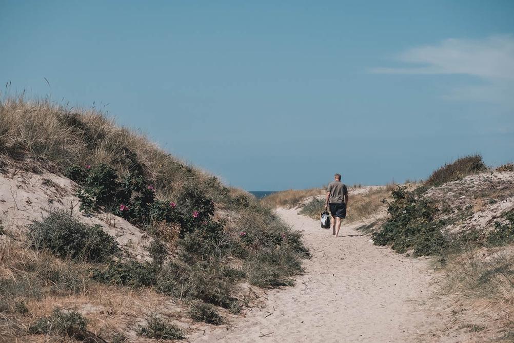 Strandsand sti på Bornholm
